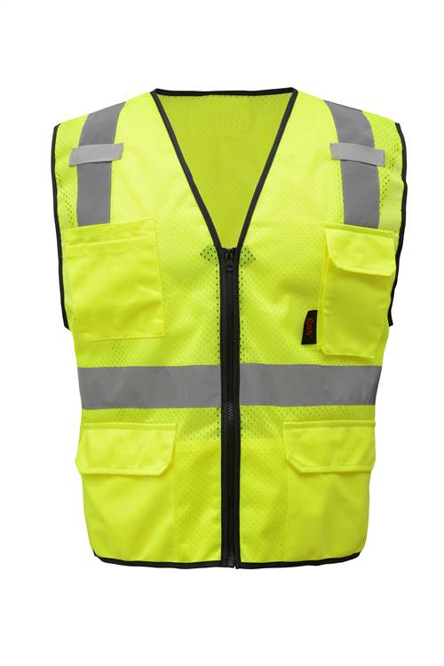 ML Kishigo 1505 Brilliant Series Breakaway Vest, Lime, ANSI/ISEA 107 Class 2 Compliant