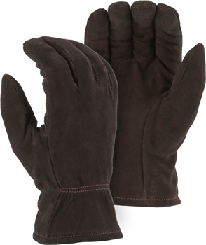 Majestic 1548 Split Deerskin Drivers Gloves, 40 Gram Thinsulate Insulated, Keystone Thumb
