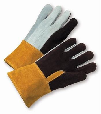 West Chester 2086GLF, Premium Heavy Foundry Split Cowhide Leather, Kevlar Sewn Welders Gloves w/ Gauntlet Cuff