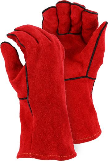 Majestic 2514A, Select Shoulder Split Cowhide Welders Glove w/ Traditional Wing Thumb