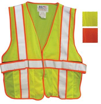 PIP Class 2 FR-Treated Mesh Vest, Lime Yellow, Adjustable #305-USV5FR