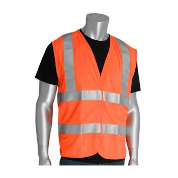 PIP Class 2 FR-Treated Solid Fabric Vest, Orange #305-WCENGFROR