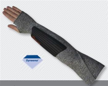 Majestic 3150-18THP 10-Gauge Dyneema Cut Resistant Sleeve with Forearm Impact Protection, 18 Inch Length, Thumb Hole, Box/12