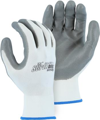Majestic 3225, HCT Advanced Foamed Nitrile Palm Coated, 13-Gauge Seamless Knit Nylon Lined Gloves