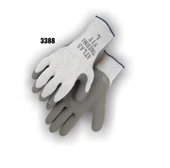 Majestic 3388 Winter Knit Gloves, Fleece Lined with Rubber Coated Wrinkled Palm