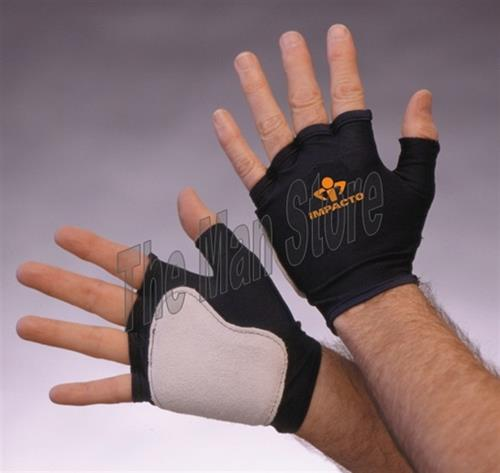 IMPACTO 501-10 Fingerless Anti-Impact Glove, Nylon Lycra & Suede Leather, Viscolas™ VEP Padded Palm