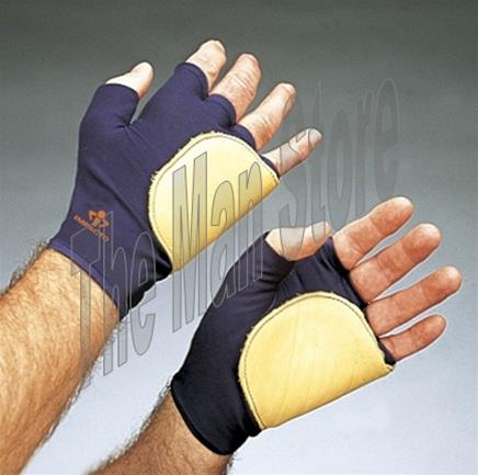 IMPACTO 503-20 Fingerless Anti-Impact Glove, Nylon Lycra & Grain Leather with Viscolas™ VEP Padded Palm/Side/Back