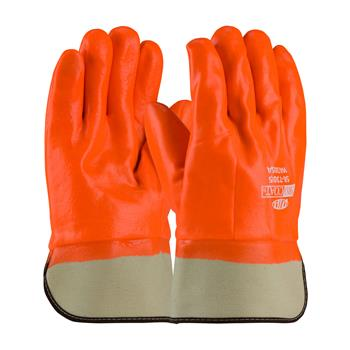 PIP  Procoat Pvc Gloves, Hi-Vis Smooth Coated Orange Pvc, Safety Cuff, #58-7305