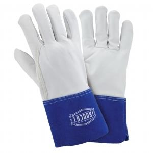 "West Chester IronCat 6142 Goatskin Premium Grain Leather TIG Welding Gloves, Kevlar Sewn, 4"" Cuff, Box/Dozen Pairs"