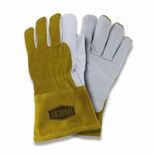 "West Chester IronCat 6143 Goatskin Premium Grain Leather TIG Welding Gloves, Fleece Lined, Kevlar Sewn, 4"" Cuff, Box/Dozen Pairs"
