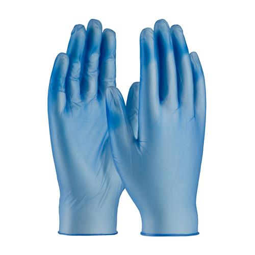 PIP  Ambi-Dex Heavy Duty Disposable Vinyl Glove, 5 Mil. Blue Vinyl, Powder Free #64-V77BPF