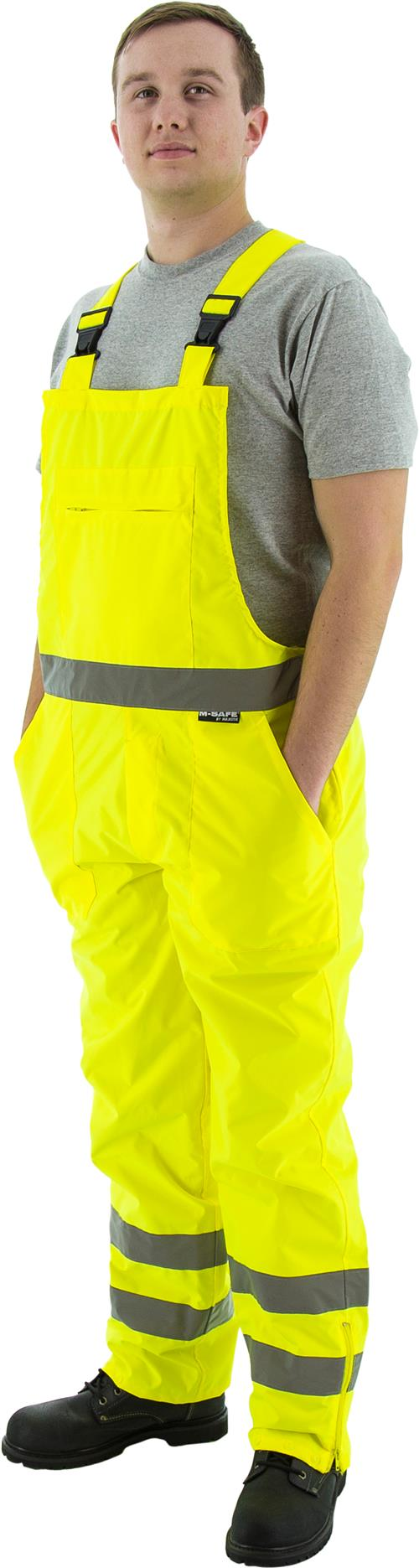 Majestic 75-2353 High Visibility Waterproof Rain Bib, ANSI/ISEA 107-2004 Class E Compliant