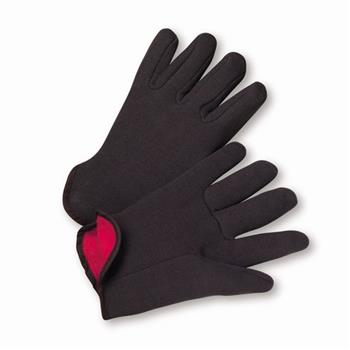 West Chester 755C, 100% Cotton, Brown Jersey, Red Fleece Lined Gloves