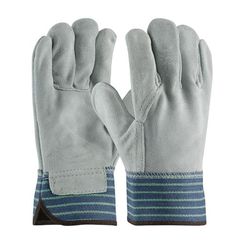 "PIP  ""A/B"" Grade Select Shoulder Split Cowhide Leather Palm Gloves - Blue & Green #82-5044"