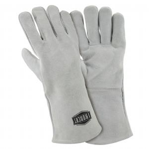 "West Chester IronCat 9010 Shoulder Split Cowhide Welding Gloves, Cotton Lined, 14"" Length, Box/Dozen Pairs"