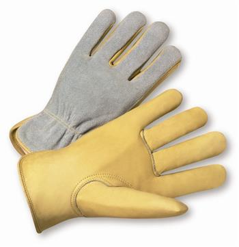 West Chester 993K, Select Grain Cowhide Palm & Fingers, Split Leather Back, Kevlar Sewn Drivers Gloves