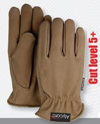 Majestic A2P10P Alycore Top-Grain Pigskin Drivers Gloves, Puncture Resistant - Alycore Layers= 4 Palm/2 Fingers, Cut Level 5+ Cut Resistant, Box/6 Pairs