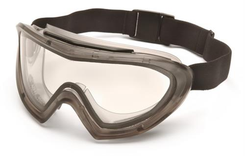 Pyramex G504DT Goggles, Capstone® Gray Direct/Indirect Goggle with Clear Anti-Fog Dual Lens