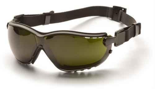 Pyramex GB1850SFT Safety Glasses, V2G® Eyewear 5.0 IR Filter Lens with Black Strap/Temples