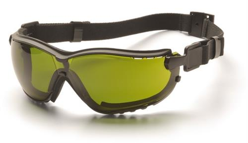 Pyramex GB1860SFT Safety Glasses, V2G® Eyewear 3.0 IR Filter Lens with Black Strap/Temples