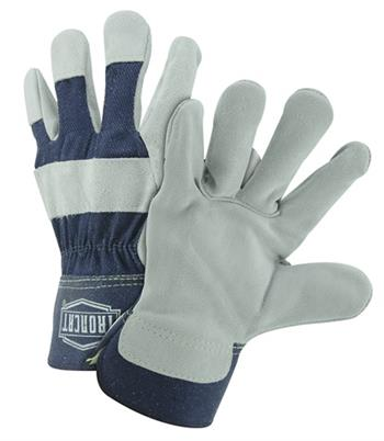 West Chester IronCat IC5 Premium Split Cowhide Leather Palm Gloves, 2 3/4 in. Rubberized Safety Cuff, Kevlar Sewn, Box/Dozen Prs