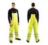 OccuNomix LUX-TBIB/FR Premium Flame Resistant, Waterproof Hi Vis Rain Bib Pant, ANSI/ISEA 107-2010: Class E (Class 3 when worn with Jacket), ASTM F1891 Arc Rating: ATPV= 18.5 cal/cm², NFPA 70E/Hazard Risk Category (HRC) = 2