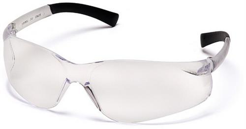Pyramex S2510S Safety Glasses, Ztek® Eyewear Clear Lens with Clear Frame