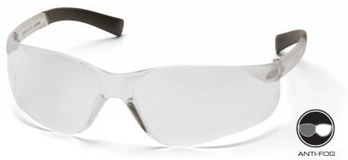 Pyramex S2510SNT Safety Glasses, Mini Ztek® Eyewear Clear Anti-Fog Lens with Clear Frame