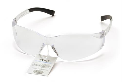 Pyramex S2510SRT Safety Glasses, Ztek® Eyewear Clear Lens with Clear Frame and Retail Tag
