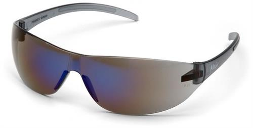 Pyramex S3275S Safety Glasses, Alair® Eyewear Blue Mirror Lens with Blue Mirror Frame
