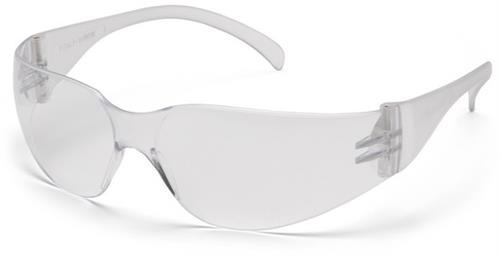 Pyramex S4110S Safety Glasses, Intruder™ Eyewear Clear Lens with Clear Frame