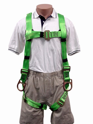 3M 1041 Apache Full Body Harness, Back & Side D-Rings, Pass Thru Chest, for Workers 310lbs+