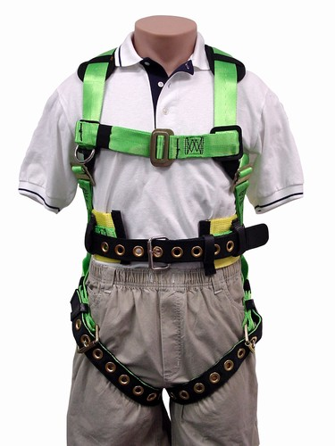 3M 1710 Apache Full Body Harness, Back D-Ring ONLY, Waist Belt, Grommet Legs, Pass Thru Chest, for Workers 400 lbs+