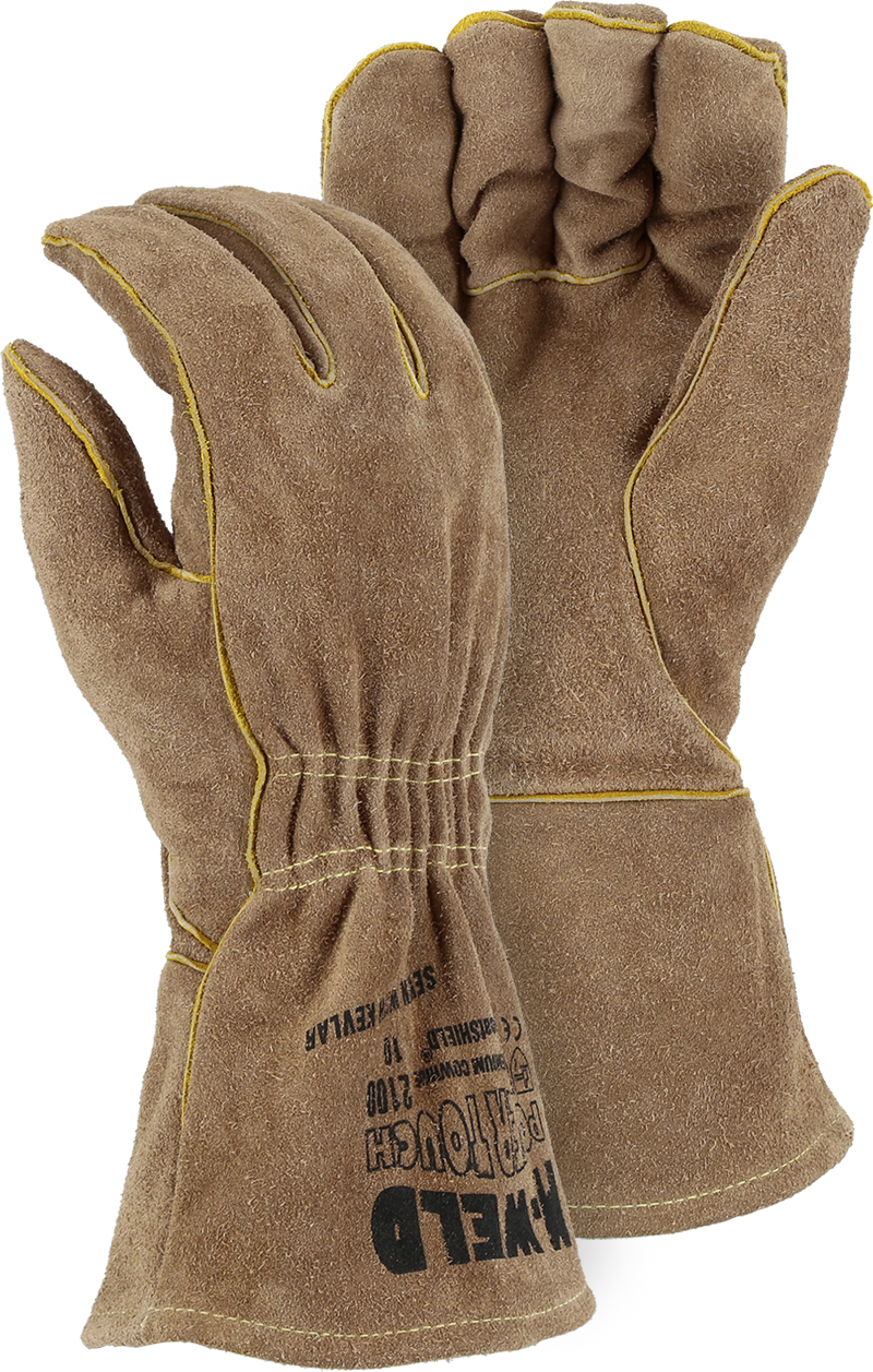 Majestic 2100 Side Split Welders Glove Kevlar Stitched & FR Liner 12 Pair/Box