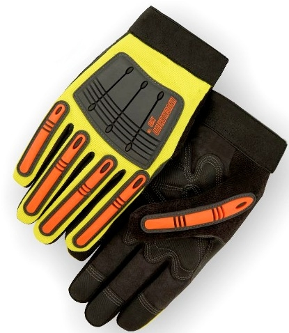 Majestic 21242HO Knucklehead X10 Mechanics Glove, Armor Skin, Neoprene Padding, PVC Patches, Hi Vis Orange, The New King of the Oil & Gas Industry, Box/Dozen Pairs