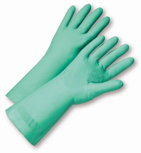 "West Chester 52N102 Unlined Nitrile Gloves, Chemical Resistant, 22 Mil, 18"", 12 pair/box"