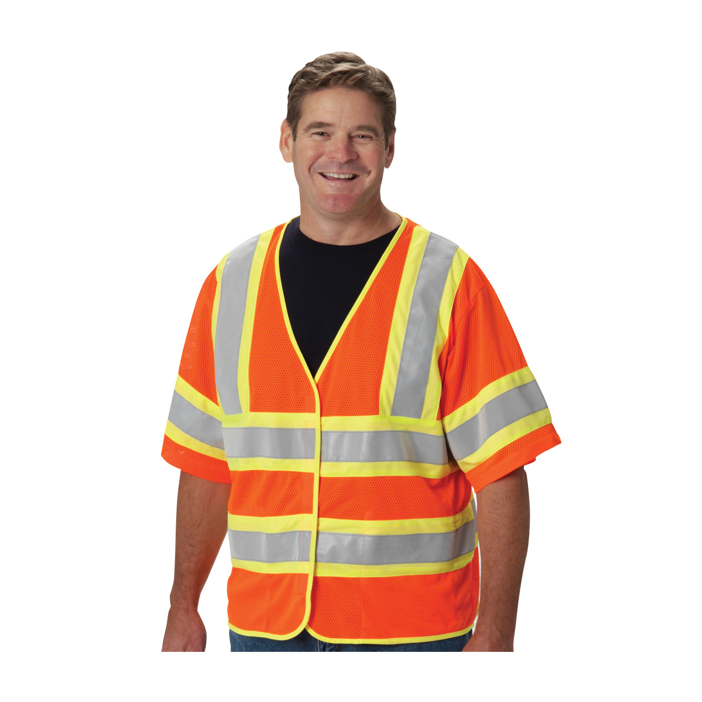PIP 305-HSVPFROR ANSI Class 3 FR-Treated Mesh Vest, Orange, 2 Internal Pockets