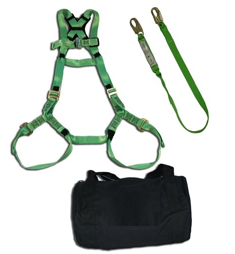 3M 30540 Apache Plus Harness Fall Protection Kit- Rated Up to 400 lbs w/Lanyard & Bag