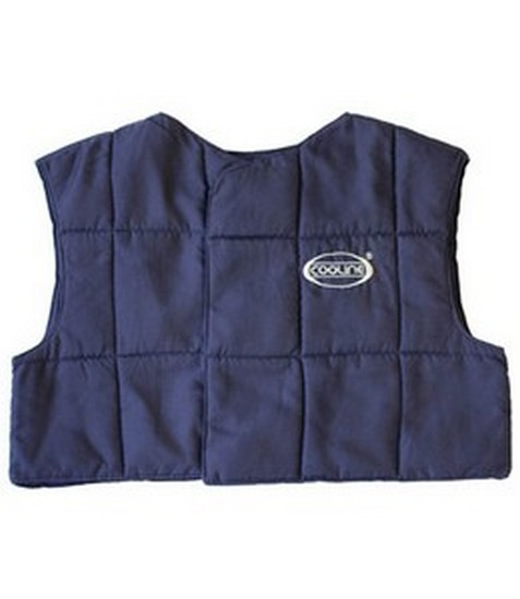 PIP E-Cooline Cooling Vest, Navy Blue, High Tech Fleece, Hook & Loop Closure, Size XLarge, #390-1012