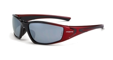 CrossFire RPG 23233 Safety Glass  Silver Mirror & Black/Pearl Red Frame,  Box/12