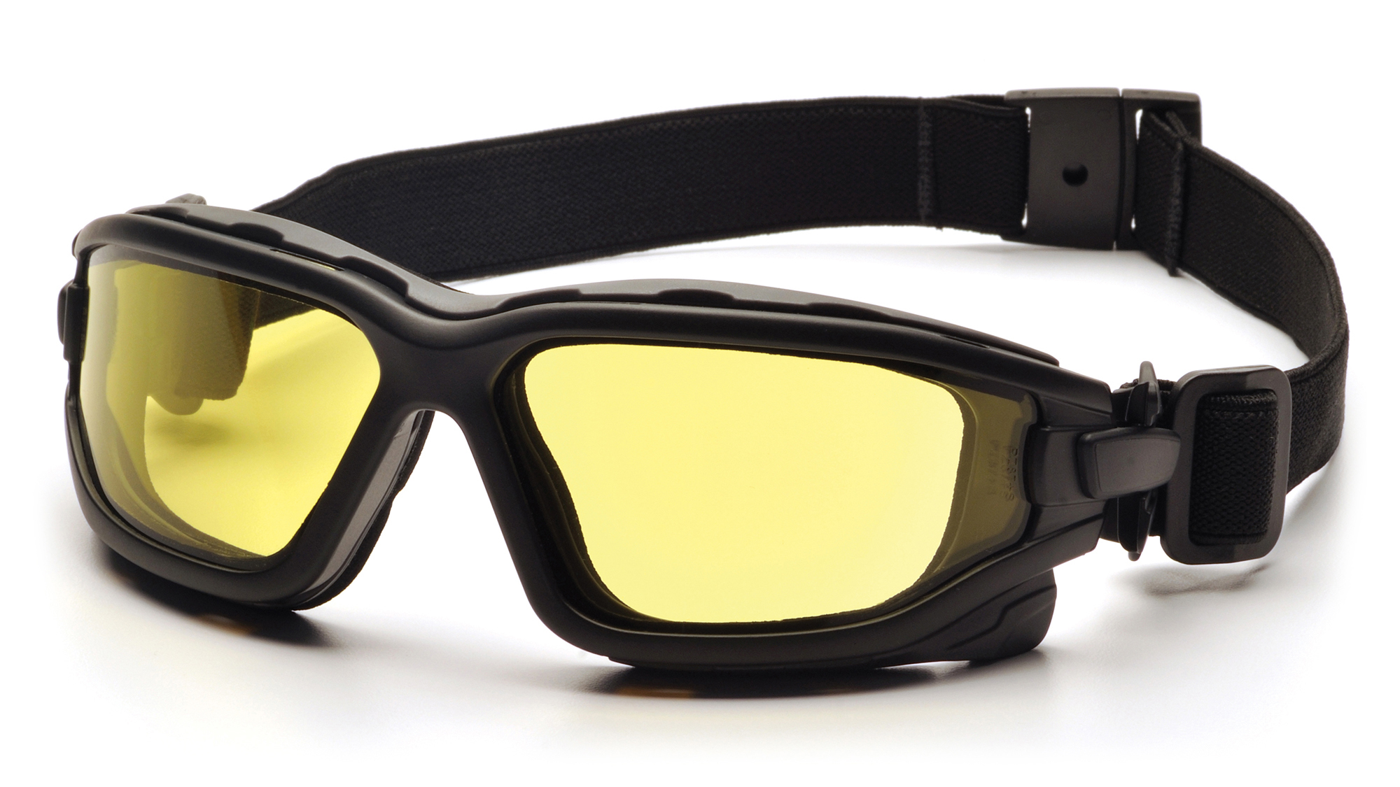 Pyramex SB7030SDT I-Force Safety Eyewear, Amber Dual Anti-Fog Lens with Black Temples / Strap, Box/12