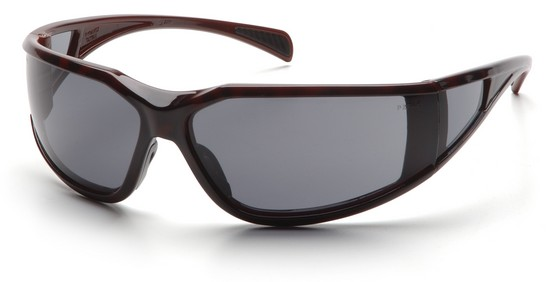 Pyramex ST5120DT Safety Glasses, Exeter Eyewear Gray Anti-Fog Lens with Tortoise Shell Frame, Qty: Box/12 prs